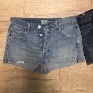 2 pairs of citizen for humanity jean shorts